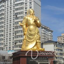 открытый сад украшения металл ремесло Кван Конг статуи сад Размер