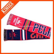 2015 fashion style acrylic woven football team scarf