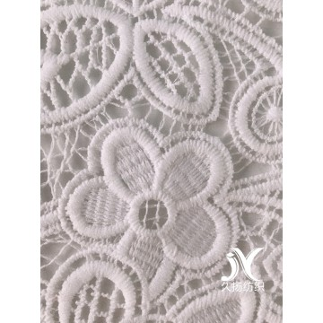 White Crochet Embroidery Fabric