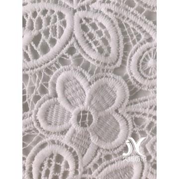 Tela branca do bordado do Crochet