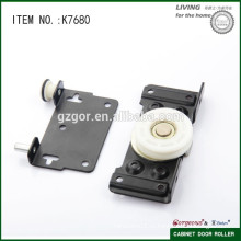 Черный и металлический раздвижной дверной ролик для деревянной системы раздвижных дверей