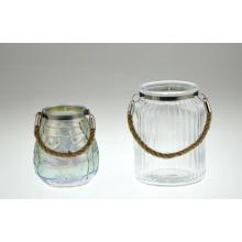 Bougeoir en verre avec poignée (DRL14033)