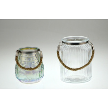 Suporte de vela de vidro com um punho (dRL14033)