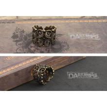 Anneau de charme fleur design creux couleur de mode rétro cuivre
