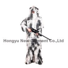 Snow camuflagem padrão Fatigues Ghillie Suit para caça (HY-C004)