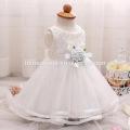Высокого класса девочка крещение платье тюль лук принцесса дети цветок девочки платье для свадьбы