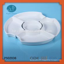 Ceramic Material and Porcelain Ceramic Type 5 compartment dinner plates,divided plate sets