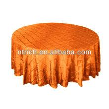 Graceful plaid table cloth, pintuck taffeta table cloth for banquet