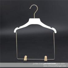 Plastic Flat Children′s Clothes Hanger Soft Finishing Kids Coat Set Clips Hanger