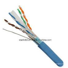 FTP CAT6 LSZH Cable Fluke Testé Soild Bare Copper Blue