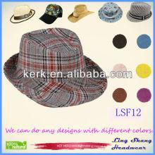 LSF12, 2014 Hot Sale Fashion Cheap cowboy vintage fedora hat