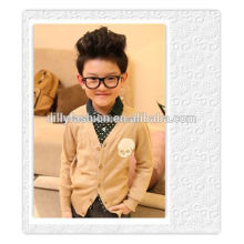 autumn v neck knitted cashmere wool cardigan for baby boy