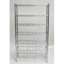 Preço barato DIY cromo metal uísque vinho display rack prateleira fabricante