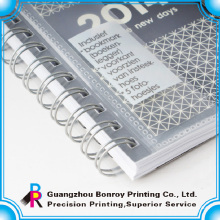 Cuadernos de espiral de tapa transparente Cuaderno de tapa de PVC