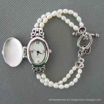 Reloj de perlas de agua dulce, perla reloj de pulsera (WH111)