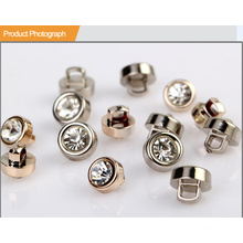 UV Plating Rhinestone Shank Button BA60135