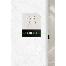 Fashion Design Acrylic Toilet Door Plaque