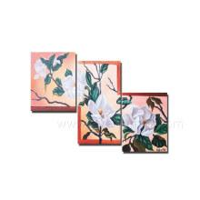 Pintura al óleo hecha a mano de la flor en la lona para la decoración casera (FL3-184)