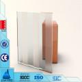 Gehärtetes Milchglas für Küchenschranktüren