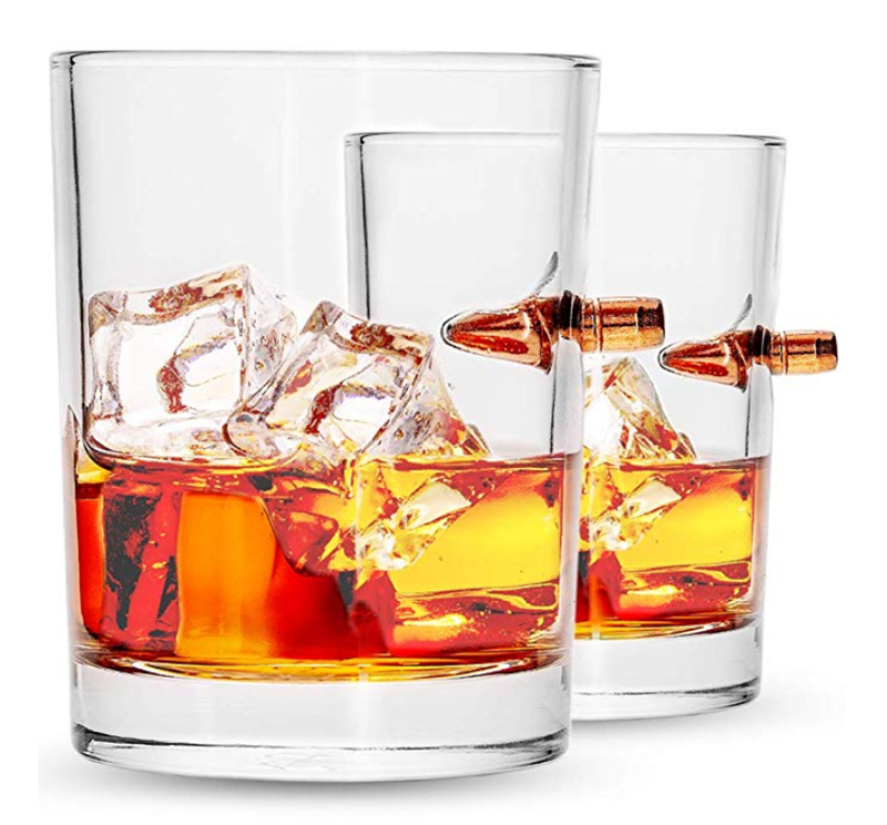 Rock Style Old Fashioned Whiskey Glasses 11 Ounce Short Glasses For Camping/Party Set Of 6