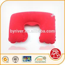 descanso de pescoço de praia/saltar/água/viagem insuflável flocado travesseiro vermelho