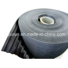 Black SBR Wide Ribbed Rubber Sheet for Paver