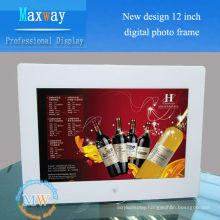 New design 12 inch digital photo frames with SD card connection