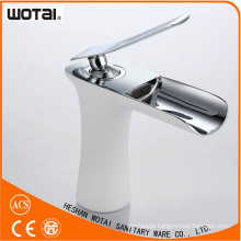 White Color Single Lever Basin Water Tap