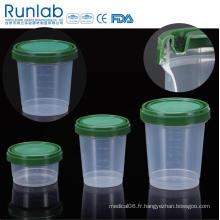 Conteneurs d'échantillons d'histologie de 500 ml enregistrés par la FDA