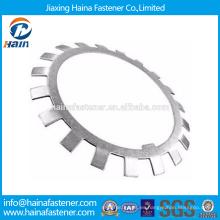 Proveedor Chino Mejor Precio DIN 5406 Acero al carbono / acero inoxidable Arandelas de bloqueo y placas de bloqueo Con Zinc plateado / HDG
