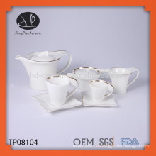 Porcelain custom made dinnerware sets with real gold decal