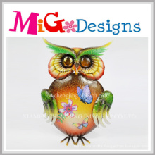 Cheap Spring Colored Owl Metal Wall Decor