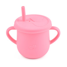 Baby Silicone Cup Straw Lid Kids Toddler Sippy Cup Bpa Free Training Cup Baby