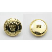 Buena calidad personalizado logotipo en relieve botón militar para el uniforme del ejército