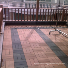 DIY Floor WPC Tile Wood Plastic Composite Decking (HLWPC009)