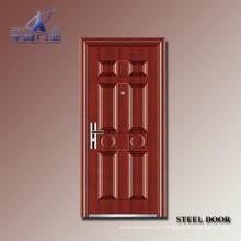 Porta de entrada comercial de aço