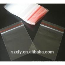 PE прозрачный пластиковый пакет на молнии