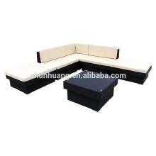 model aluminum frame Garden PE rattan sofa sets