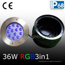Асимметричный 36W RGB LED водонепроницаемый свет для бассейна (JP948126-AS)