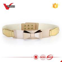 2015 Cintos de metal elástico dourado de moda