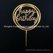 Distinctive Custom Happy Birthday Acrylic Cake Topper