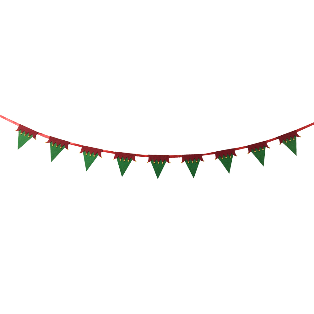 Christmas Magic Elf Hat Bunting Flag