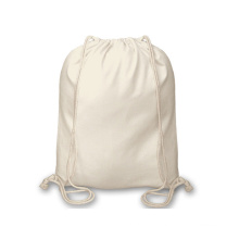 Wholesale Organic Cotton Drawstring Packaging pouch canvas drawstring backpack Bag with pockets