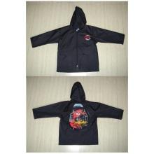 Yj-1135 ~ 1138 Packable Cute Toddlers Kids Girls Red Black Grey Hooded Rain Jacket