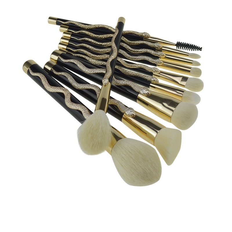 3D-Schlangen-Totempinsel Neues 10-teiliges Make-up-Pinsel-Set