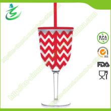 280 Ml Кубок пластиковых вин; Пластиковая пивная чашка с соломой
