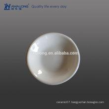 Kitchen ware White Round Ceramic Relish Dish