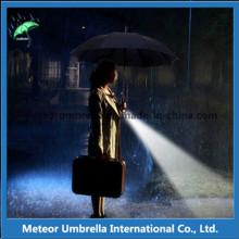 Мода Auto Open специальные светодиодные вспышки света дождь прямой зонтик