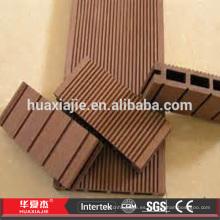 Suelo de cubierta de compuesto plástico de madera WPC resistente a las inclemencias del tiempo
