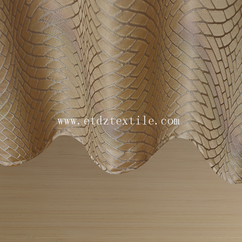 Polyester Twisted Yarn Curtain Fabric WZQ159